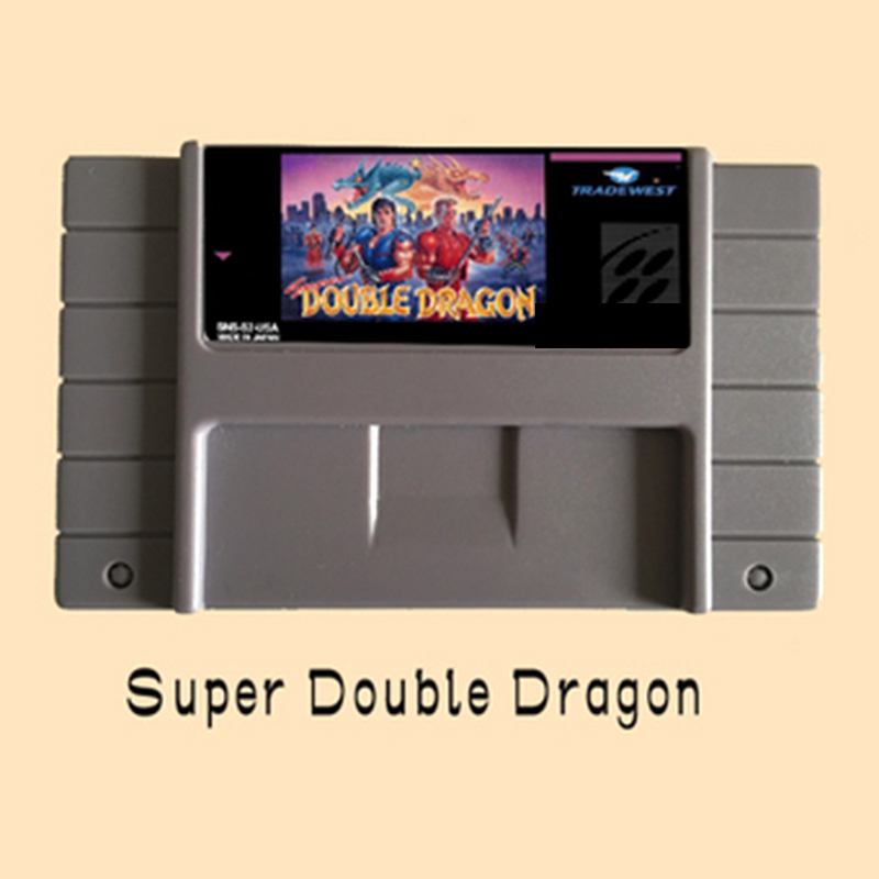 Super Double Dragon 16 bit Big Gray Game Card For NTSC Game Player Drop Shipping